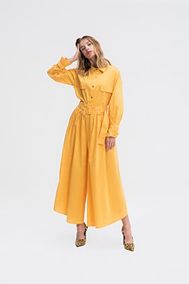 Belted Yellow Jumpsuit