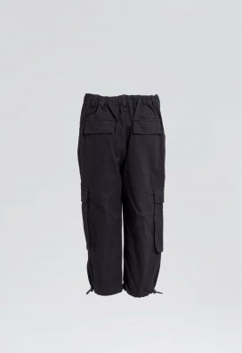 Kids  Black  Cargo Trouser