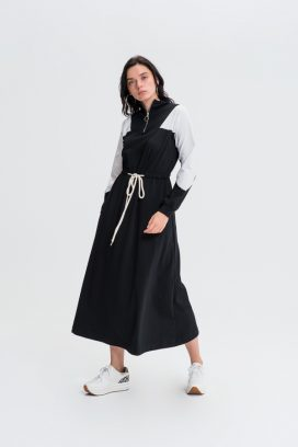 Black  Shift Belted Dress