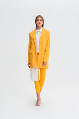 One Button Yellow  Jacket