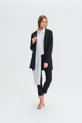 One Button Black  Jacket