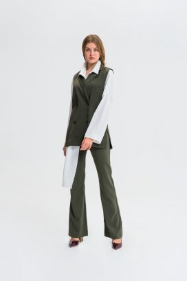 Boot Cut Khaki Trouser