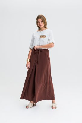 Strapped Wide Leg Trouser