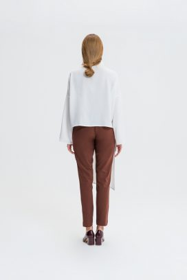 Buttoned Brown Trouser