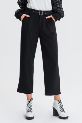 Straight Belted Trouser