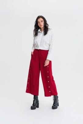 Buttoned Wide Trouser