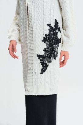 Printed Buttoned Cardigan