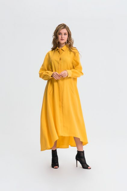 Maxi Full Cuffed Shirt Dress
