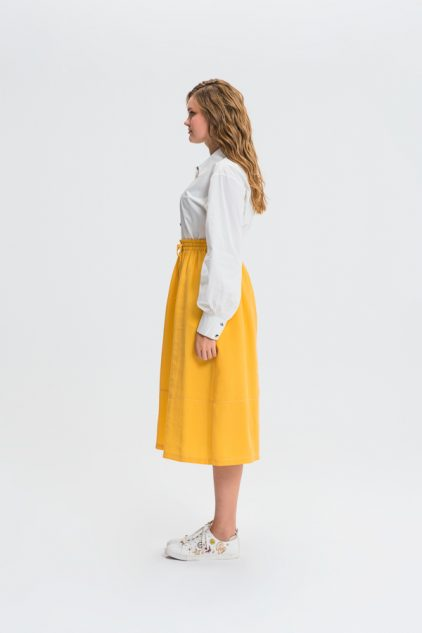 Strapped A-Line Maxi Skirt