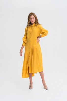 Midi Full Sleeves Shirt Dress