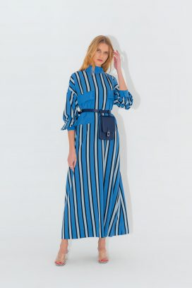 Multicolored Stripes Dress