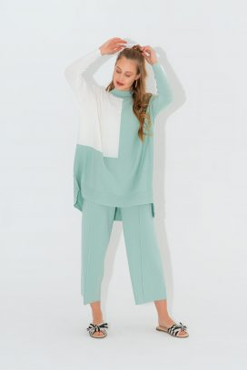 Full Sleeves Mint Blouse