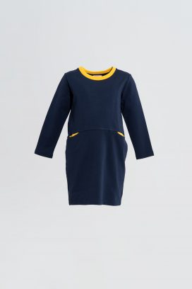 Full Sleeves Navy Dress
