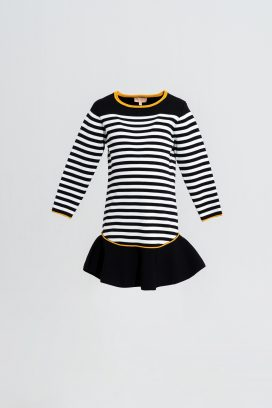 Full Sleeves Stripped Dress