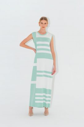 Sleeveless Mint Maxi  Dress