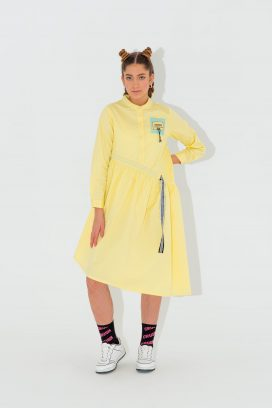 Full Sleeves Yellow Dress