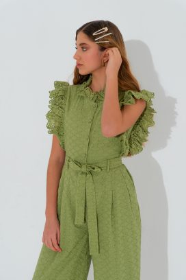 Belted Sleeveless Overall