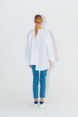 High Low Off White Shirt