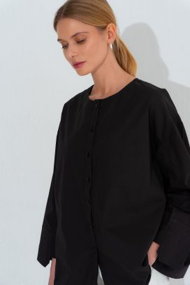 High Low Black  Shirt