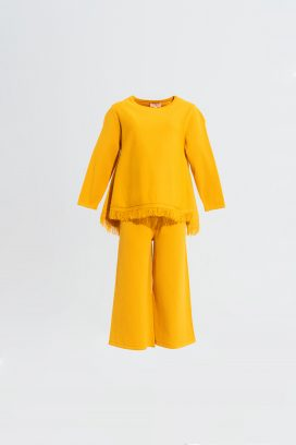 Yellow Elastic Waist Trouser
