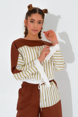 Striped Full Sleeves Top
