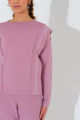 Lilac Full Sleeves Top