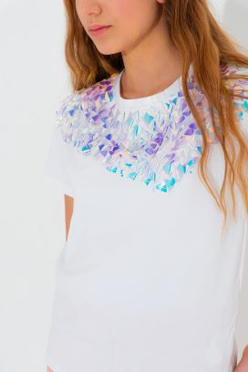 Printed Half Sleeves Top