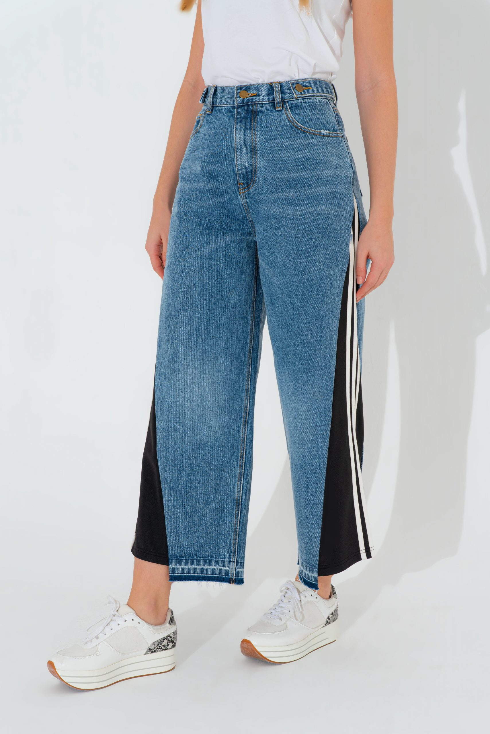 Wide Denim Trouser