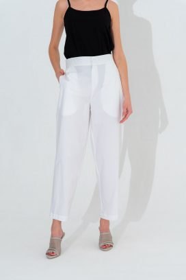 Off White Buttoned Trouser