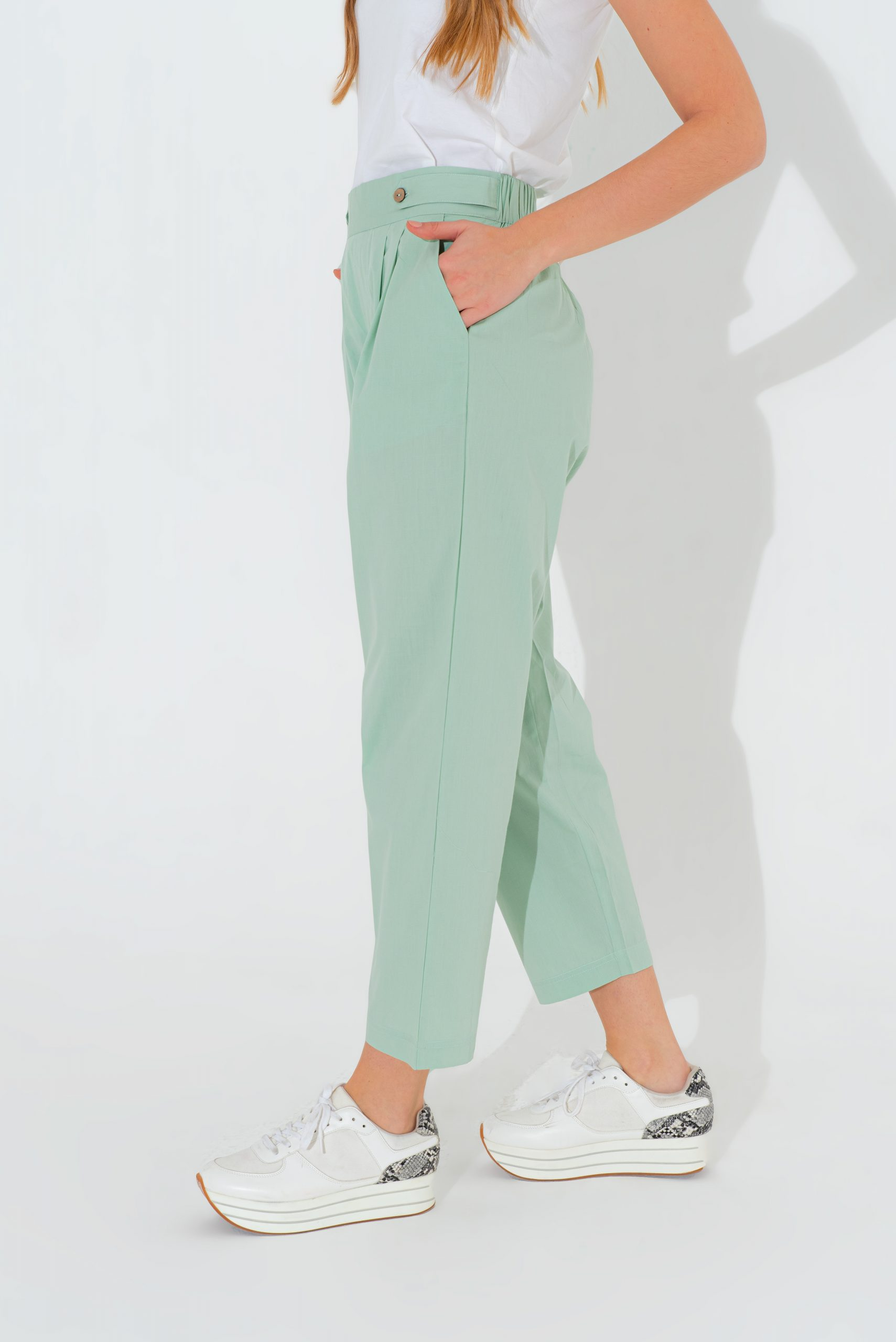 Straight Mint Trouser