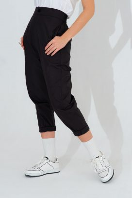 High Waist Black Trouser