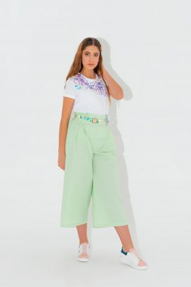 Wide Belted Trouser