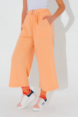 Belted Wide Pink Trouser