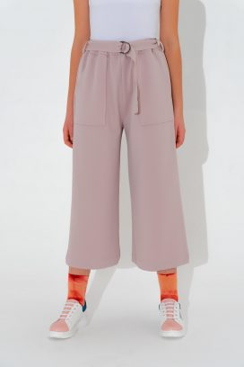 Belted Wide Lilac  Trouser