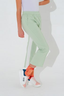 Strapped Mint Trouser