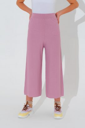 Lilac Wide Elastic Trouser