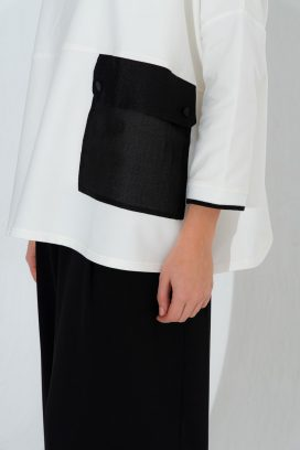 Off White Full Sleeves Tunic