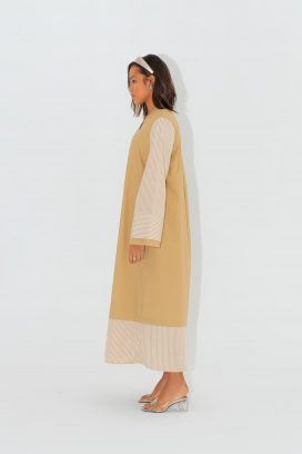 Full Sleeves Beige  Dress
