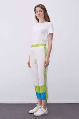 Multicolored Elastic Trouser