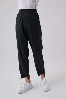 Elastic Black Trouser