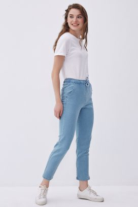 Elastic Denim Trouser