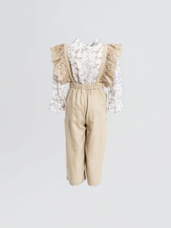 kids jumpsuit Sleeveless Beige Jumpsuit