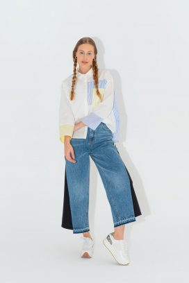 Multicolored Wide Trouser