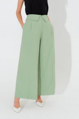 Wide Cuffed Waist Trouser