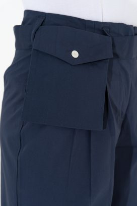 Wide Cut Navy Trouser