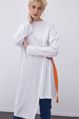 High Low White Tunic