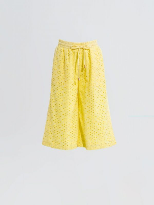 kids trouser Yellow Eyelet Trouser