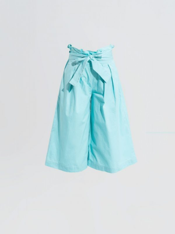 kids Trouser Blue Poplin Tie Trouser